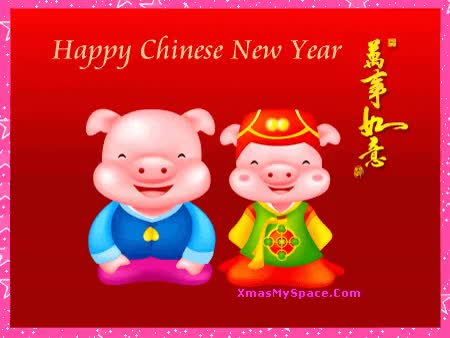 Watch and share Happy Chinese New Year Pigs Graphic GIFs on Gfycat