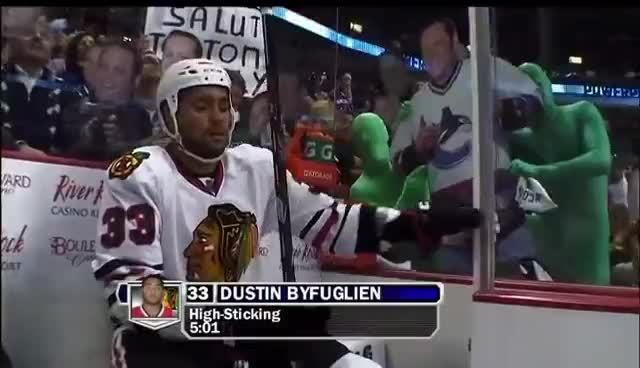 blackhawks, canucks, green men, hockey, Hockey GIFs