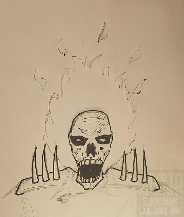 Watch Hand Drawn Ghost Rider Gif GIF by Crypto Collectibles (@cryptocollectibles) on Gfycat. Discover more fire, ghost rider, skull GIFs on Gfycat