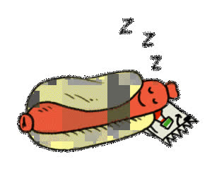 Good Night, Sleep, Zzz, good night, hot dog, hotdog, sleep, sleepy, zzz, Sleepy Hotdog GIFs