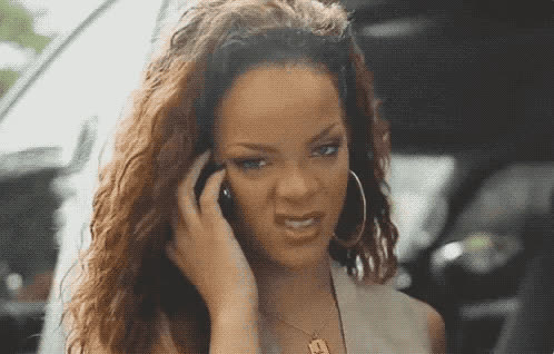 dah, disgusted, doubt, ew, irony, mad, music, no, rihanna, riri, robyn rihanna fenty, seriously, way, Rihanna - No way GIFs