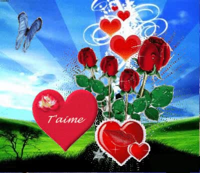 Watch and share COEUR/ JE T AIME DANS NATURE GIFs on Gfycat