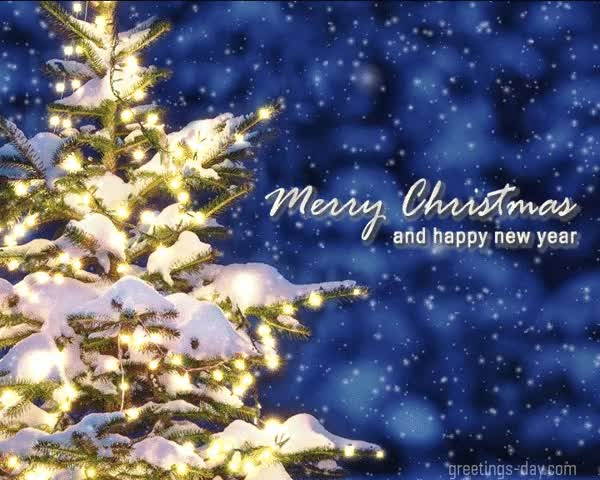 Watch and share Merry Christmas Animated New Year GIFs on Gfycat