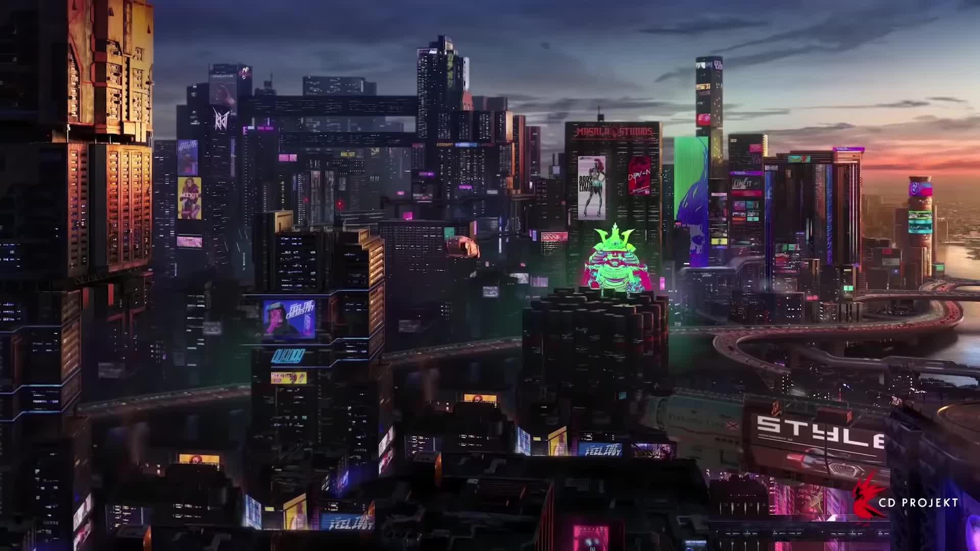 Cyberpunk 2077 Night City Live Wallpaper 1080 P