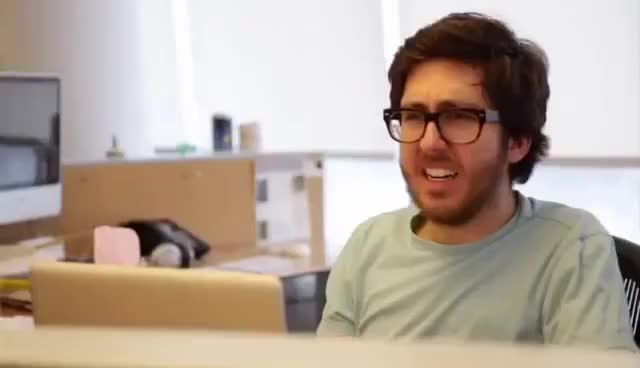Watch and share Jake And Amir: Chinstrap Beard GIFs on Gfycat