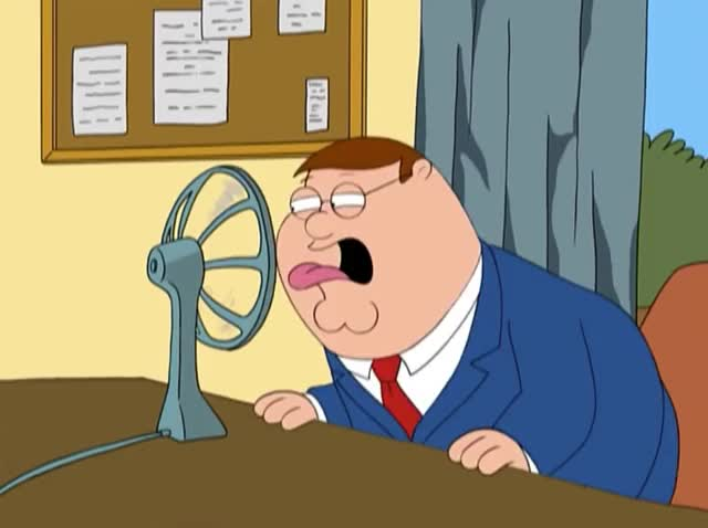 Watch this family guy GIF by GIF Queen (@ioanna) on Gfycat. Discover more bored, cold, dumb, family, family guy, fan, funny, guy, heat, hot, peter, silly, sweat, temperature, tongue, too, work GIFs on Gfycat