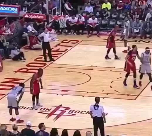James Harden piggybacks Jrue Holiday, Jrue Holiday called for a foul GIFs