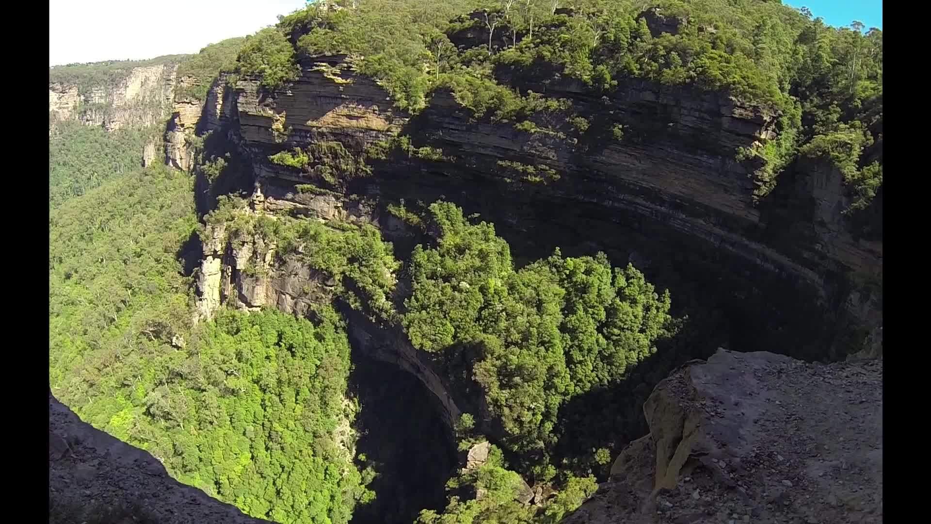 bluemountains, earthgifs, earthporngifs, Wentworth Falls Cliffs - Blue Mountains GIFs