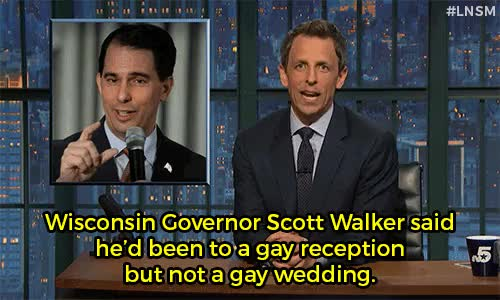 Watch and share Gay Marriage GIFs and Scott Walker GIFs on Gfycat