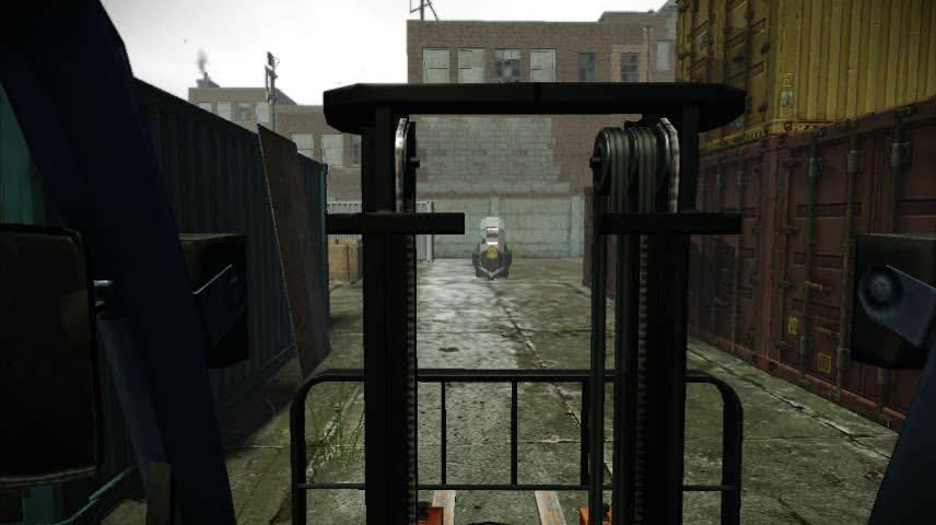 paydaytheheist, Is it possible to run Winters over with a forklift? (reddit) GIFs