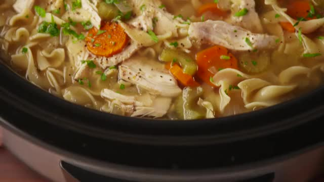 Watch and share How To Make Crock-Pot Chicken Noodle Soup - Recipe - Delish GIFs by ghoulishman on Gfycat