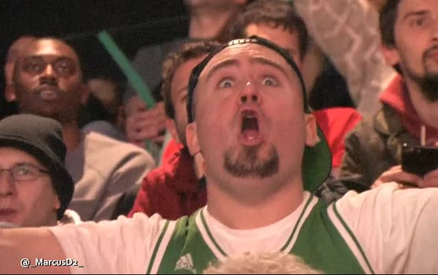 Boston Celtics fan is hyped
