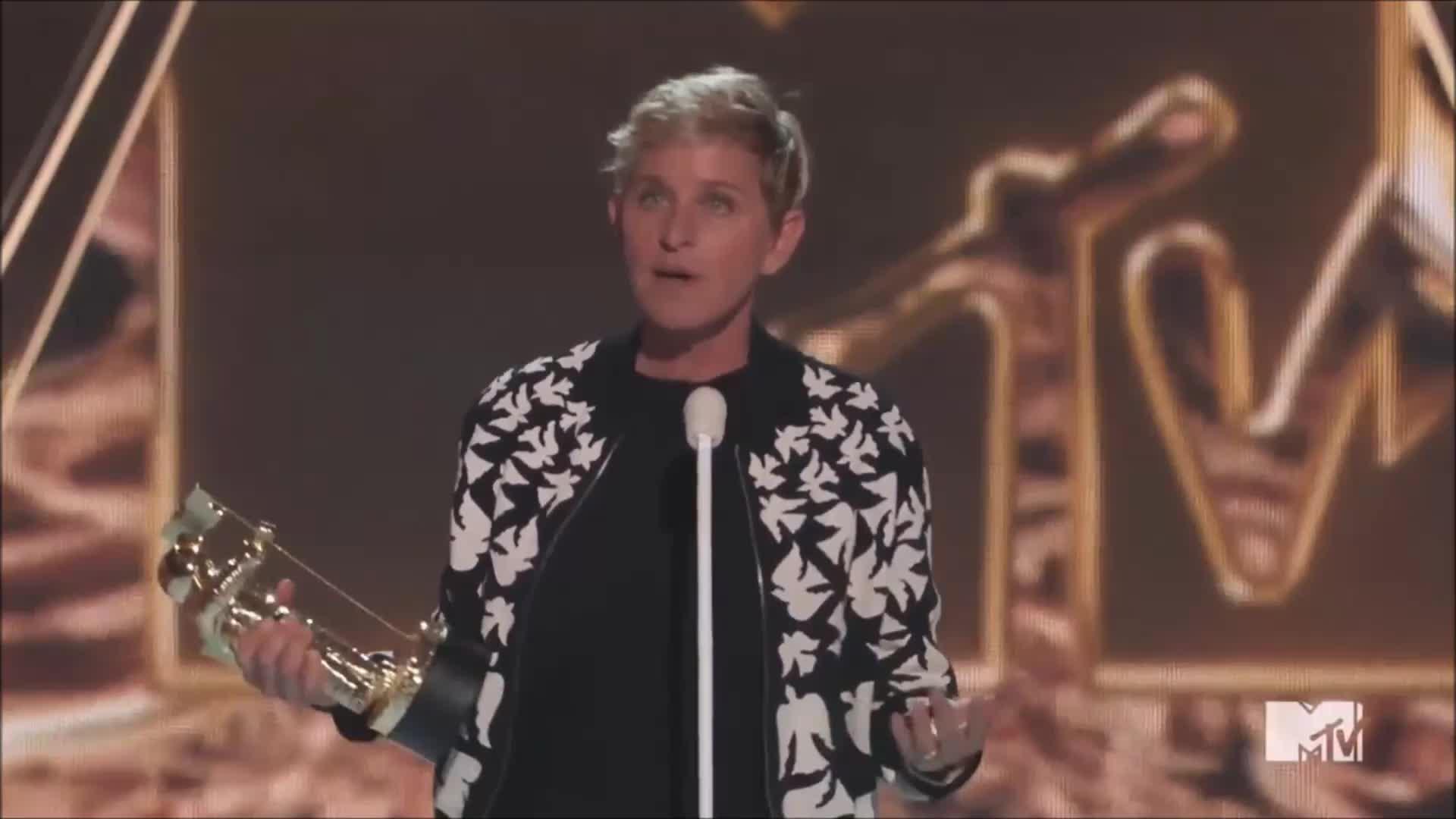 ellen degeneres, mtv, vmas, vmas2017, No biggie from Ellen DeGeneres. GIFs