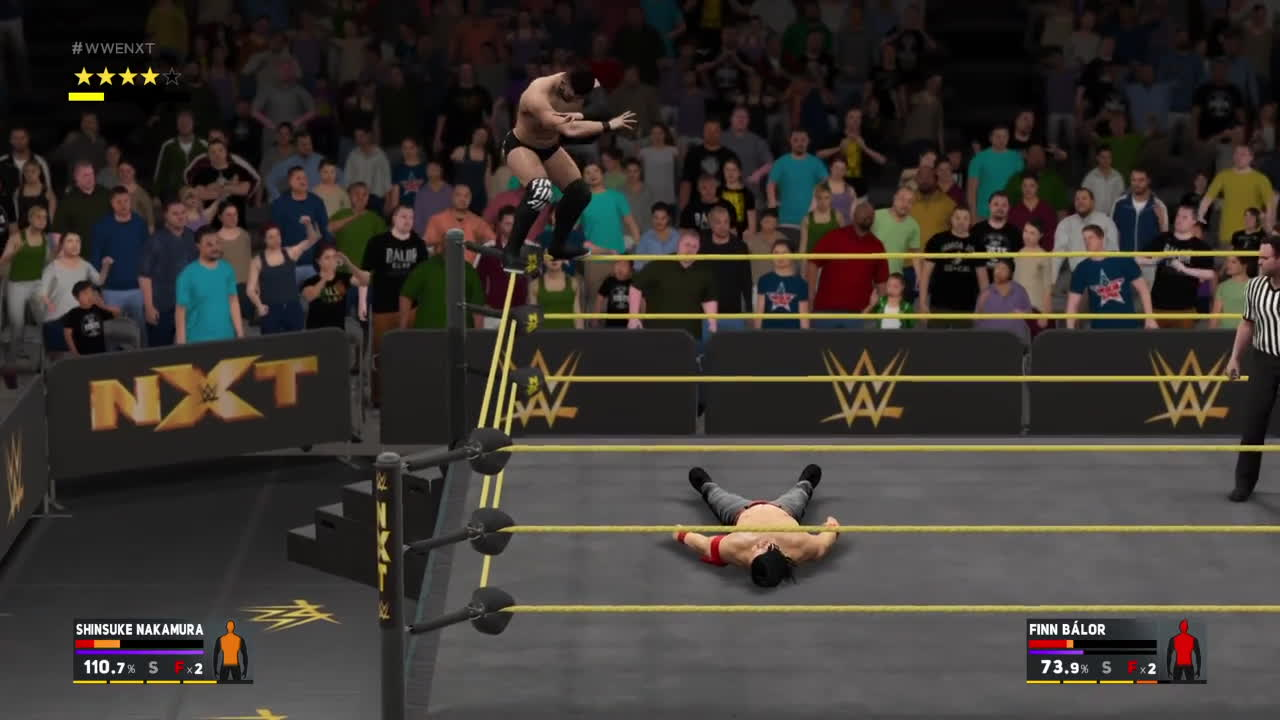 ps4share, sony interactive entertainment, wwegames, Cool finish to Nakamura vs Balor GIFs