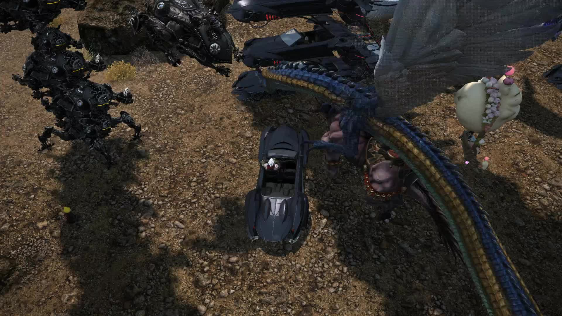 FFXIV, Parking in The First GIFs