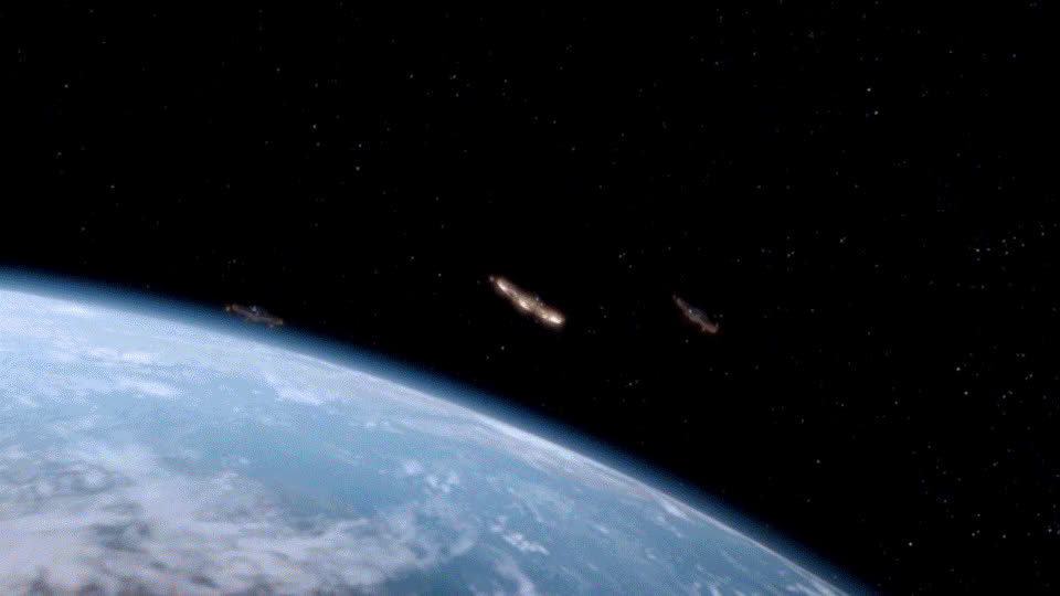 airplanes, doctorwho, spacegifs, Dr Who Planes in Space Scene GIFs