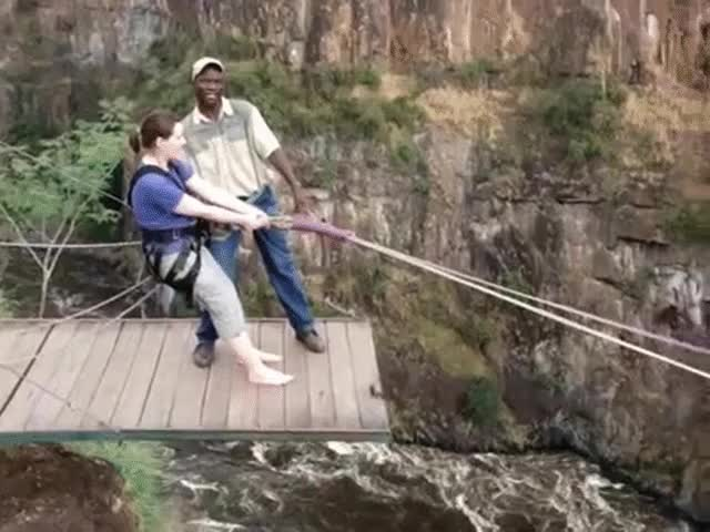 Watch and share Gorge Swing Victoria Falls Flavia GIFs on Gfycat