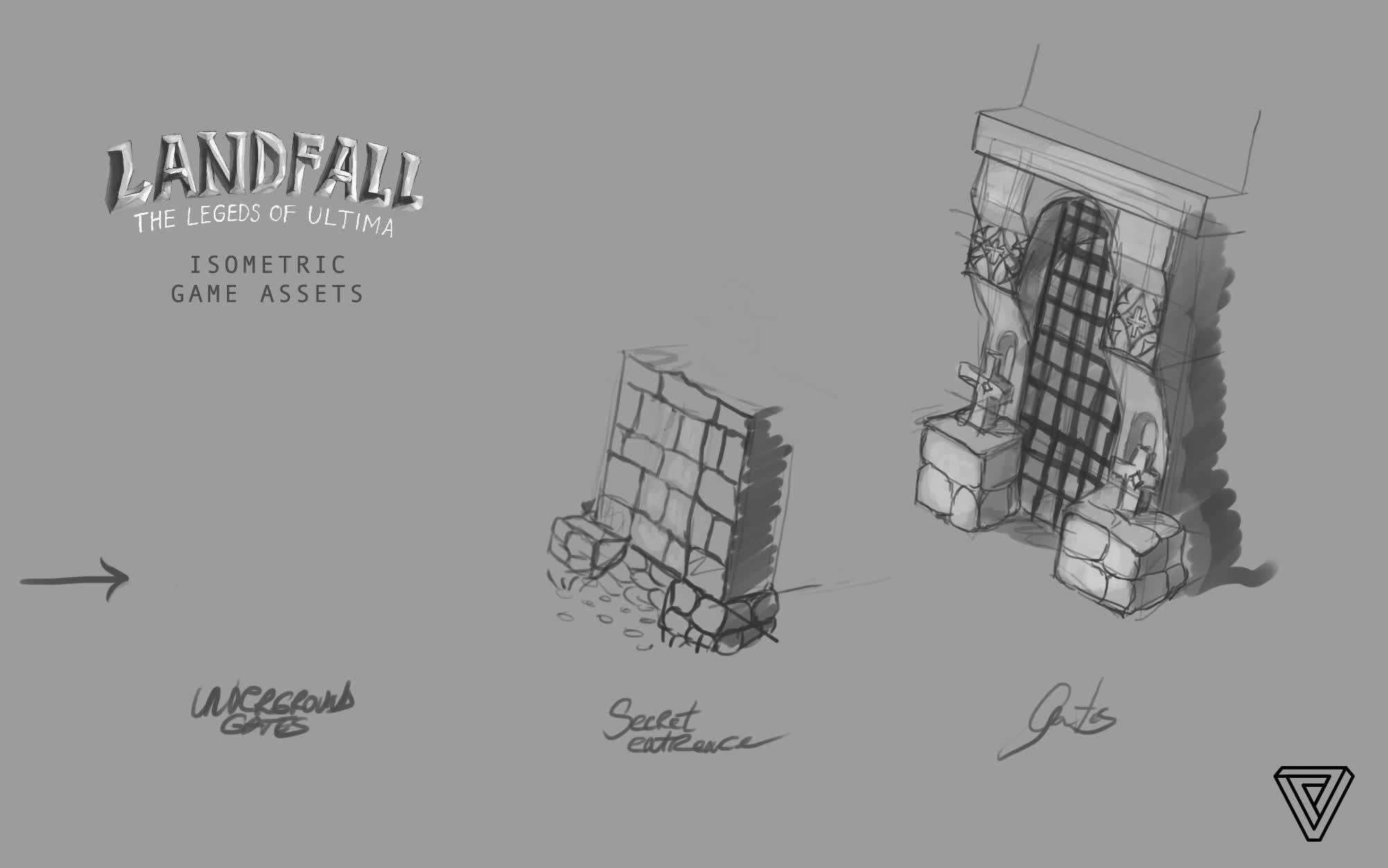 cakeforge, isometric game, ultima online, Ultima LandFall - Gates & Secret Doors GIFs