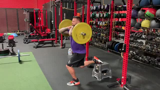 Watch and share Front Bulgarian Squat GIFs by Gymapp on Gfycat
