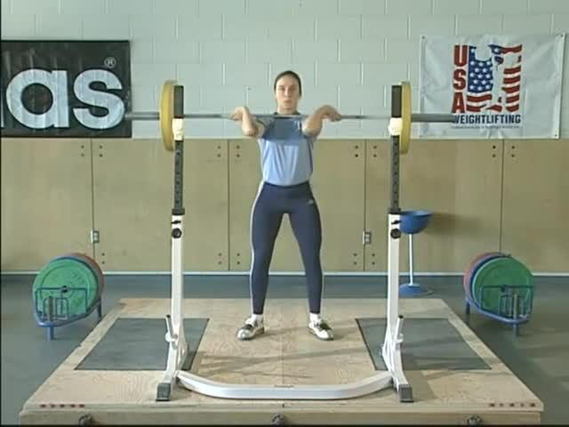 lifting, olympic, sport, BB Front Squat - USA Weightlifting GIFs
