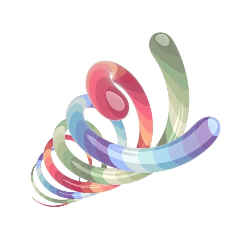 loadingicon, Rainbow Spiral [OC] (reddit) GIFs