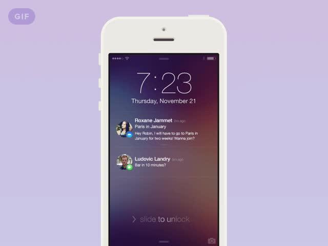 Watch and share [GIF] IOS7 Notifications Tweak GIFs on Gfycat