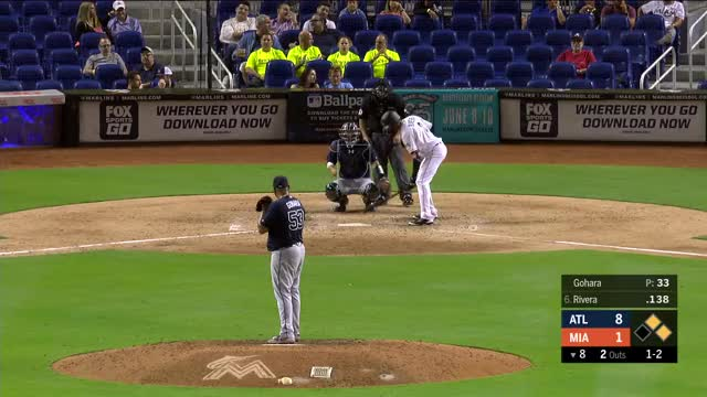 Watch and share Atlanta Braves GIFs and Miami Marlins GIFs by splitfinger on Gfycat