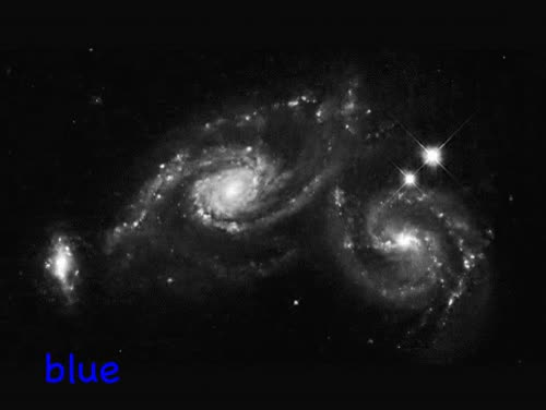 Watch and share The Images Taken By The Hubble Space Telescope Are In Black And White, But Each Image Only Captures A Certain Wavelength (color) Of Light. GIFs on Gfycat