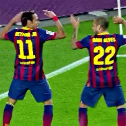 Watch and share True Friendship GIFs and Fc Barcelona GIFs on Gfycat