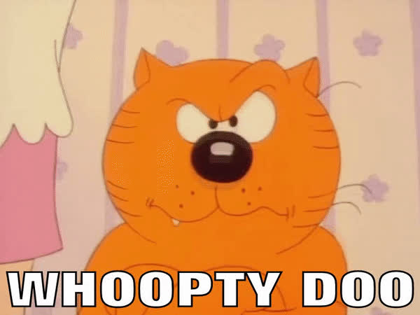 1980's, Big Deal, Cartoon, Cats, Funny, Heathcliff, Whoopty Doo, Whoopy, Whoopty Doo GIFs