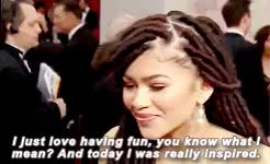 Zendaya on wearing faux locs at the 2015 Oscars