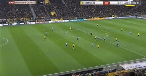 borussiadortmund, Marco Reus 1:0 against Hertha BSC Berlin GIFs
