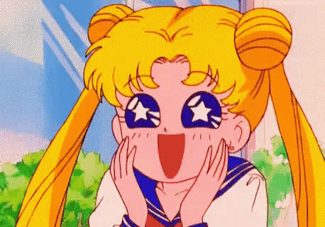 awww, excited, happy, omg, sailor moon, surprise, Sailor Moon GIFs
