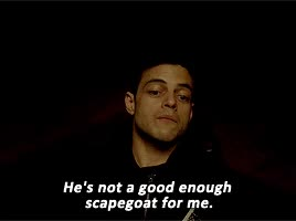 Watch and share Rami Malek GIFs and Mr Robot GIFs by Reactions on Gfycat