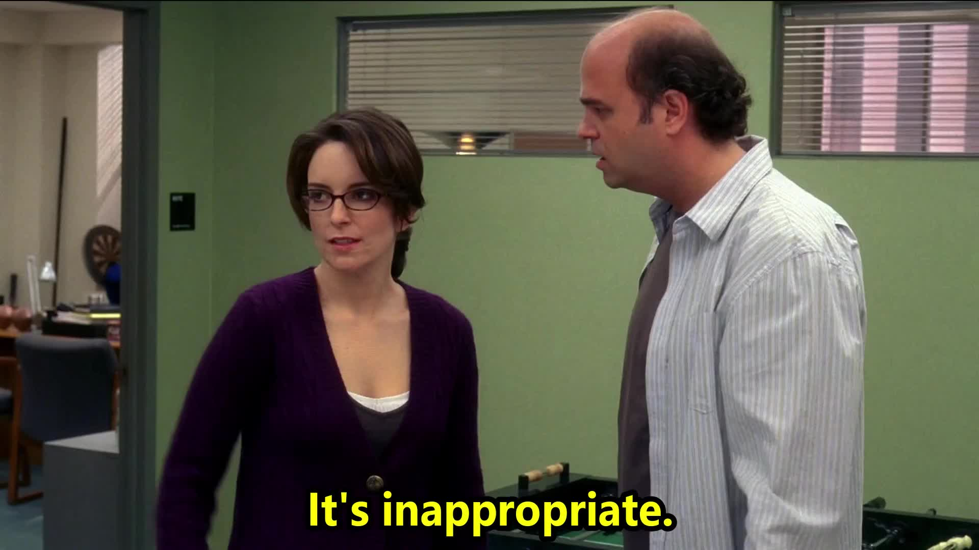 30 rock, angry, big, celebs, face, fey, hornberger, inappropriate, jack the writer, jerk, lemon, liz, pete, s01e04, stupid, tina, tina fey, with, you're, your, You're inappropriate! GIFs