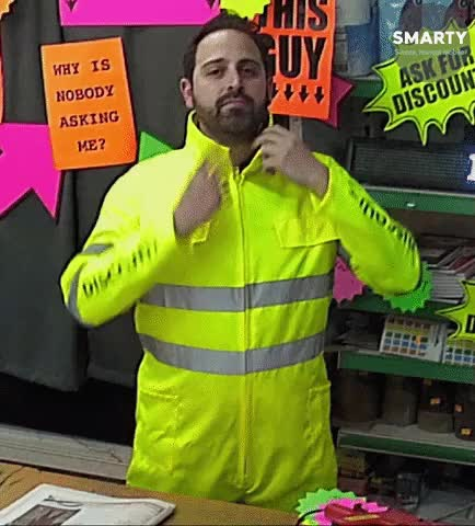 Watch and share Shopkeeper Suit Collar GIFs by Gravity Road on Gfycat