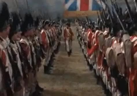 Watch and share Revolutionary Wars British Army Sergeant With Spontoon GIFs by nurdbot on Gfycat