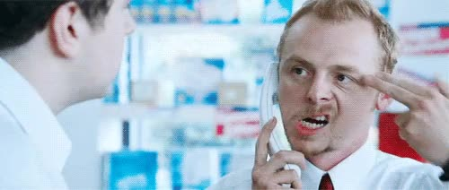 simon pegg, Finger guns for all GIFs