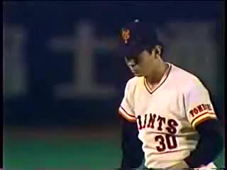 egawa suguru yomiuri giants bass hanshin tigers, Egawa VS Bass - 1986.6.26 GIFs