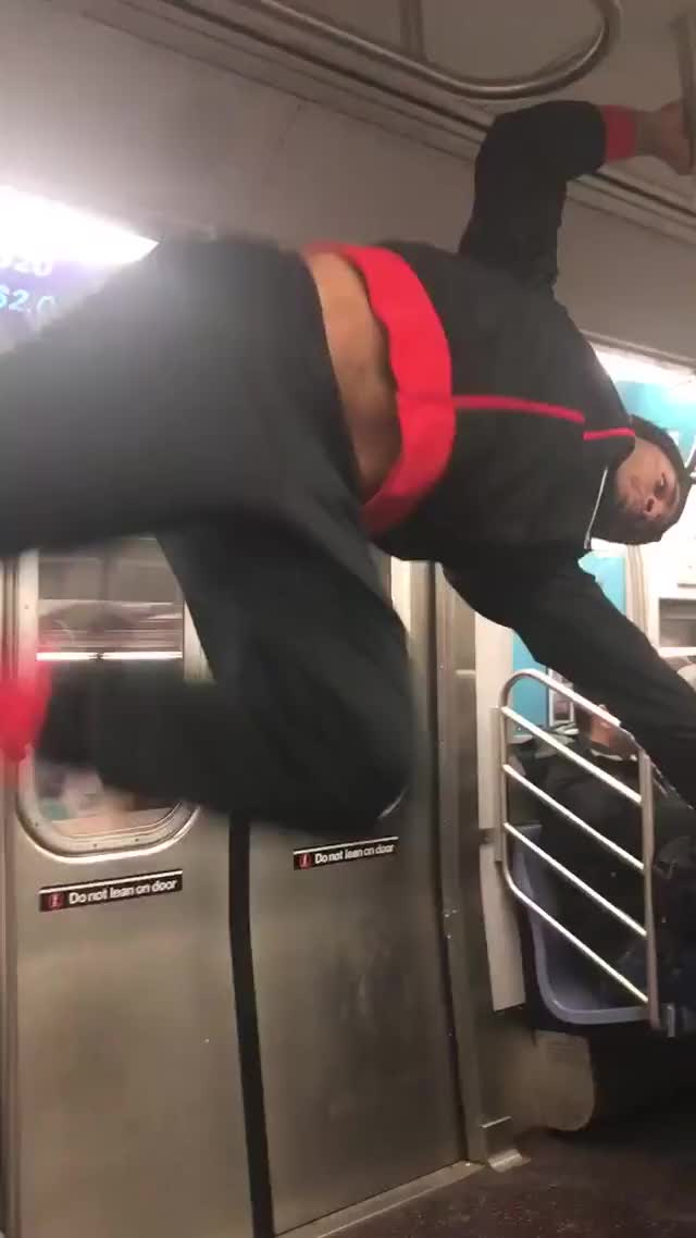 Watch Subway Pole Dancer GIF on Gfycat. Discover more related GIFs on Gfycat
