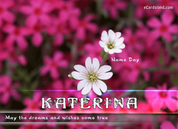 Watch and share Name Day Flowers - Choose ECard From Name Day - Women ECards GIFs on Gfycat