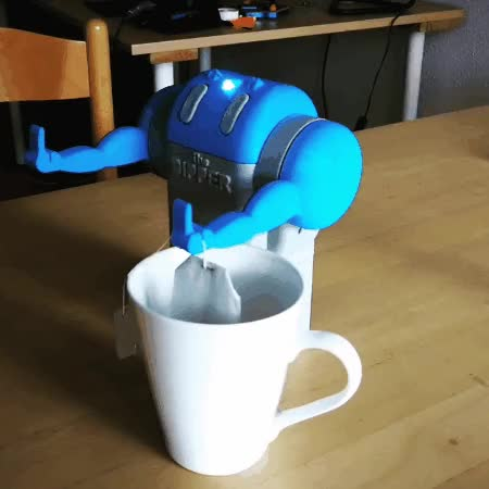 Watch and share The Dipper. Somewhat Offensive Tea Dipping Robot. GIFs on Gfycat