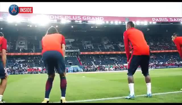Watch and share INSIDE - PARIS SAINT-GERMAIN VS SAINT-ETIENNE With Edinson Cavani, Marquinhos GIFs on Gfycat