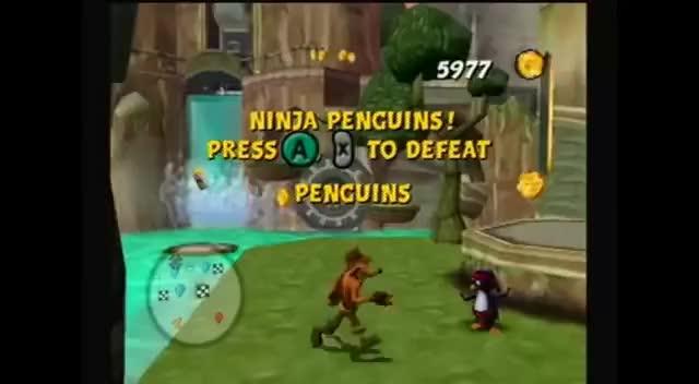 Crash Tag Team Racing Ninja Penguin Fight