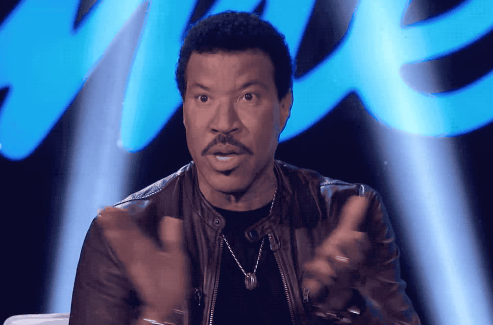 american, applause, best, bravo, clap, congratulations, done, good, idol, job, lionel, made, proud, richie, the, well, you, you're, Lionel Richie - Bravo GIFs