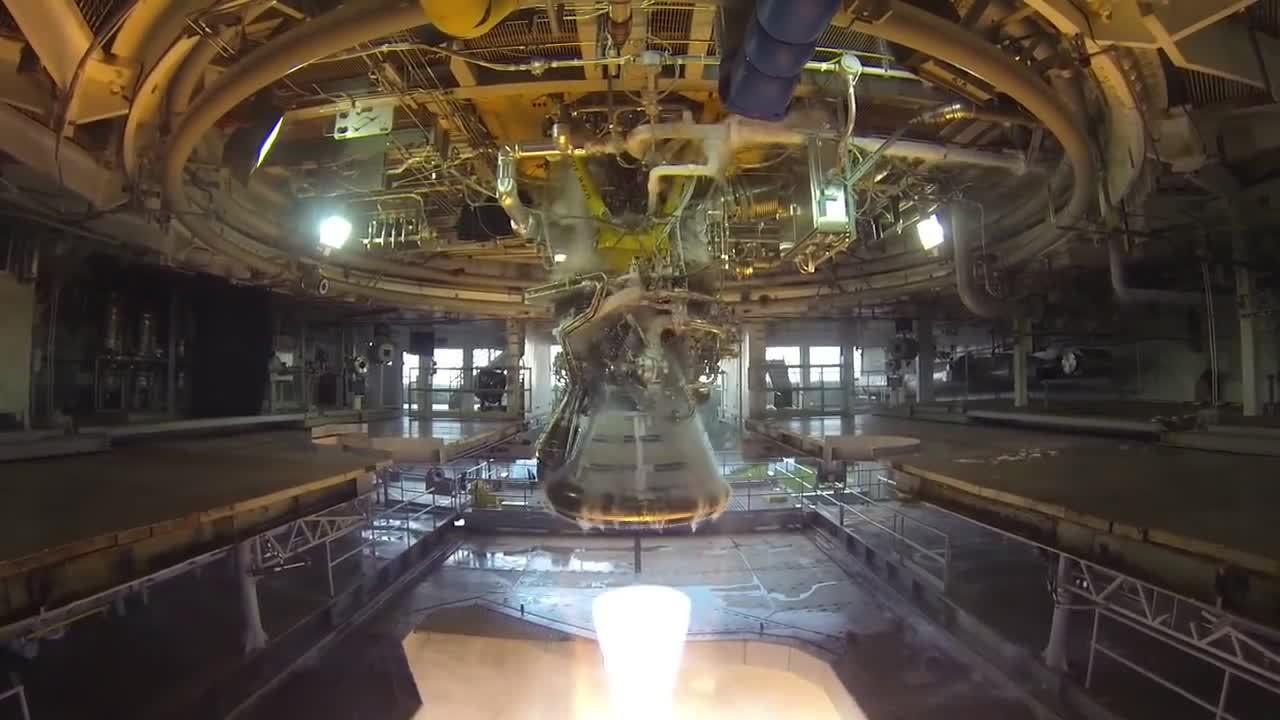 SpaceGfys, oddlysatisfying, J-2X Gimbal Testing at Stennis Space Center (reddit) GIFs