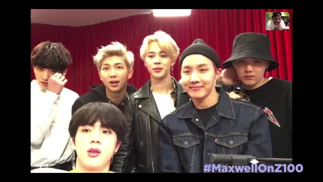 Watch BTS Shows Maxwell Their 'Sexy Skype Face' GIF by Koreaboo (@koreaboo) on Gfycat. Discover more american music awards, bts, btsarmy, dna, interview, kpop, mic drop, new york, skype, z100 GIFs on Gfycat