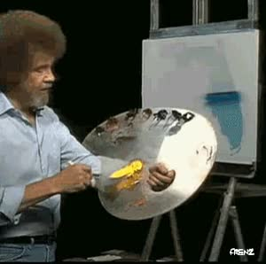 Watch and share Bob Ross GIFs by Frenz Hessing on Gfycat