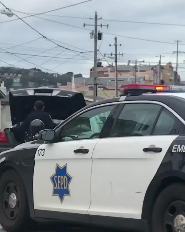 Watch and share Driving By An Active Crime Scene That Looks Like Something Straight Out Of A Movie GIFs by tothetenthpower on Gfycat