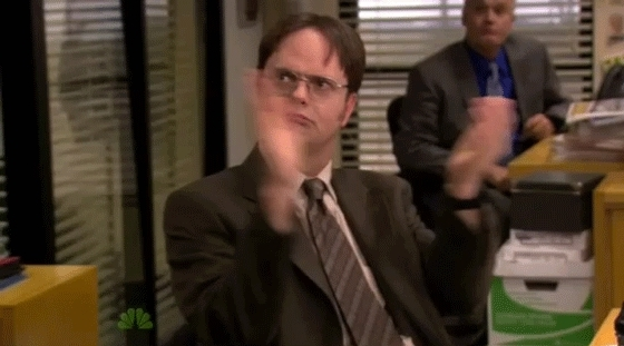 applause, askreddit, clap, clapping, hockey, news, slow clap, The Office : Dwight Schrute slow clap GIFs